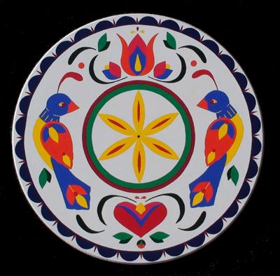 PENNSYLVANIA DUTCH HEX SIGN: DOuble Distelfink - Good Luck, by Brandy Naugle