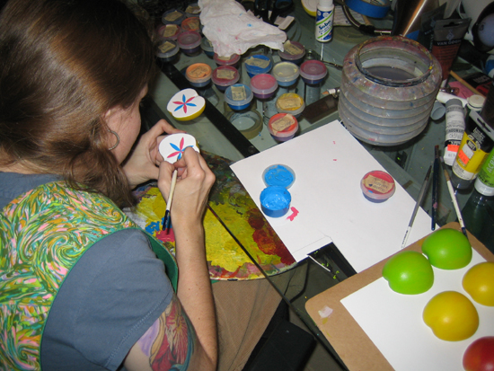 brandy naugle painting a hex sign
