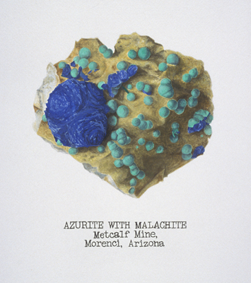 azurite w/ malachite; Morenci Mine, Arizona; Brandy Naugle