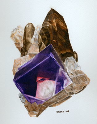 fluorite w/ smoky quartz; Crystal Peak, Colorado; Brandy Naugle