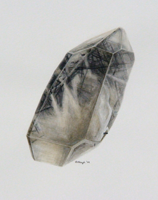 Quartz with Schorl, Pala, California; Brandy Naugle